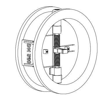 castflow valves check valves manufacturer Manual Check Valve dual plate check valve
